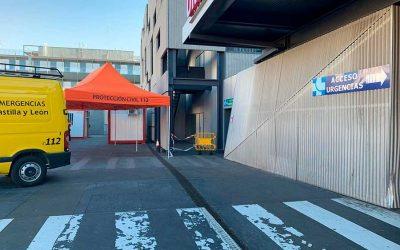 Instalamos carpas de triaje en los hospitales de Valladolid