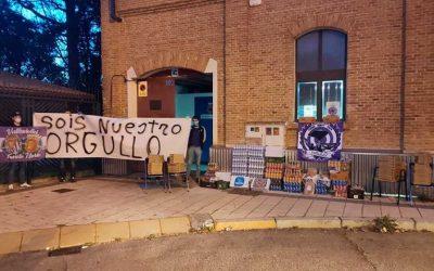 Las peñas del Real Valladolid y Topepizza colaboran donando alimentos